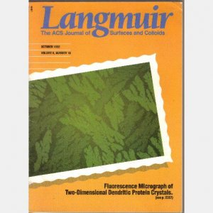Langmuir The ACS Journal of Surfaces and Colloids OCTOBER 1992 Vol 8 No 10