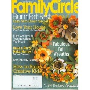 FAMILY CIRCLE November 8 2005 Magazine Fabulous Fall Wreaths Raise Creative Kids