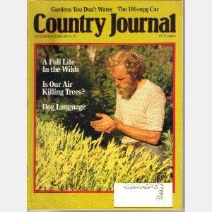 COUNTRY JOURNAL September October 1990 magazine Jay Kawatski Barbara Pleasant Ronald Jager