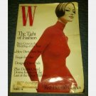 W August 1995 magazine SHALOM HARLOW Valentino red sweater dress DENNIS QUAID Donna Karan Fergie