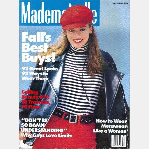 MADEMOISELLE October 1992 Magazine MILLA JOVOVICH cover