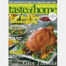 TASTE OF HOME October November 2010 magazine Monster Cupcakes Champagne Basted Turkey