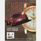 CHRONOS Winter Spring 1996 Magazine GIRARD-PERREGAUX POUR FERRARI Alain Silberstein