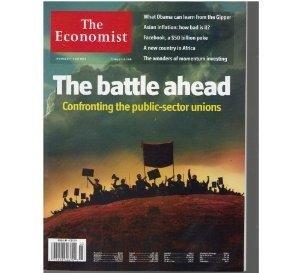 THE ECONOMIST January 8 14 2011 Magazine Battle ahead Confronting Public sector unions Facebook