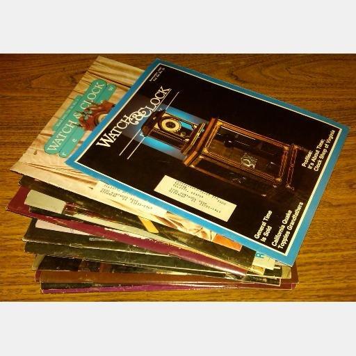Watch & Clock Review 1987 1989 1990 1991 1992 1993 1994 Magazine Lot 19 Golden Bell Press