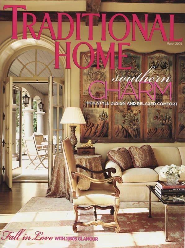 TRADITIONAL HOME March 2005 Magazine Birmingham Design