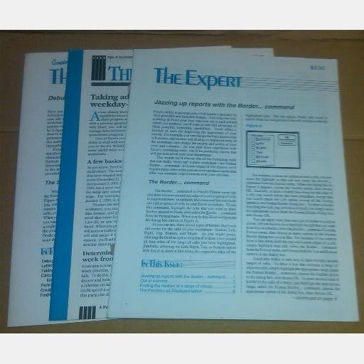 THE EXPERT magazine Tips Techniques Microsoft Excel Cobb Group Microsoft July August 1989 April 1990
