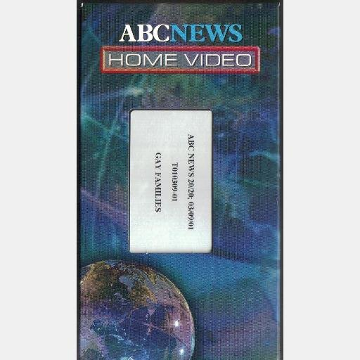 GAY FAMILIES 20-20 ABC Home Video March 3 2001 T010309-01 VHS Tape