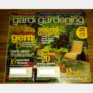 GARDENING HOW-TO Magazine LOT of 8 issues 2005 2006 2007 2008 National Home Gardening Club