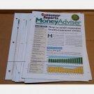 CONSUMER REPORTS MONEY ADVISER Magazine LOT 9 issues 2005 2006