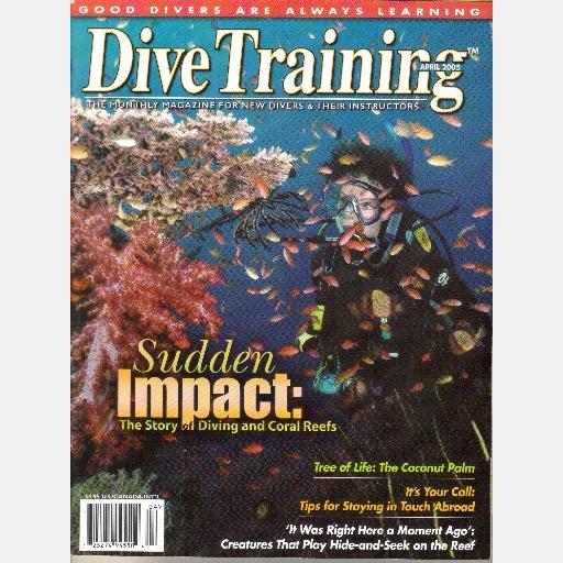 DIVE TRAINING April 2005 Magazine Diving Coral Reefs coconut palm