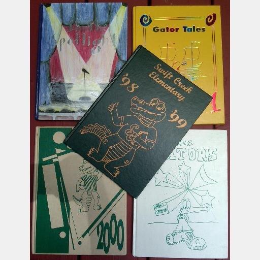 SWIFT CREEK ELEMENTARY SCHOOL YEARBOOKS Lot 5 1997 1998 1999 2000 2001 2004 2005