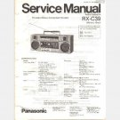 PANASONIC RX-C39 Portable Stereo Radio Cassette SERVICE MANUAL INSTRUCTIONS