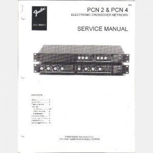 FENDER PCN 2 PCN 4 Electronic Crossover Network SERVICE MANUAL 1995 MX-5216 MX-5224 MX-5232