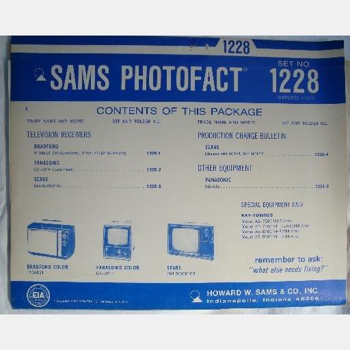 SAMS PHOTOFACT 1228 February 1972 Bradford 1104K31 Panasonic CT-991P Sears 564-50080100