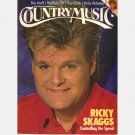 COUNTRY MUSIC November December 1989 RICKY SKAGGS Roy Acuff Guy Clark Reba McEntire Poster