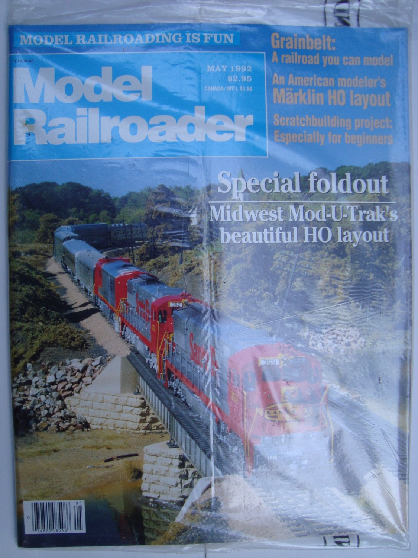 MODEL RAILROADER May 1992 Vol 59 No 5 Bachmann F40PH Midwest Mod-U-Trak HO