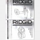 Ridgid R9213 18 Volt 4-Piece Cordless Combo Kit Operator's Owner's Manual Guide R8411503
