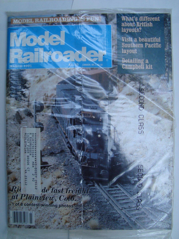 MODEL RAILROADER March 1991 Vol 58 No 3 SDX-1 Port of Los Angeles RvP Division 23x68