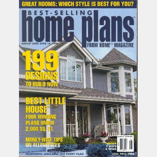 Best selling home plans april 1998 from home magazine 199 for Best selling house plans