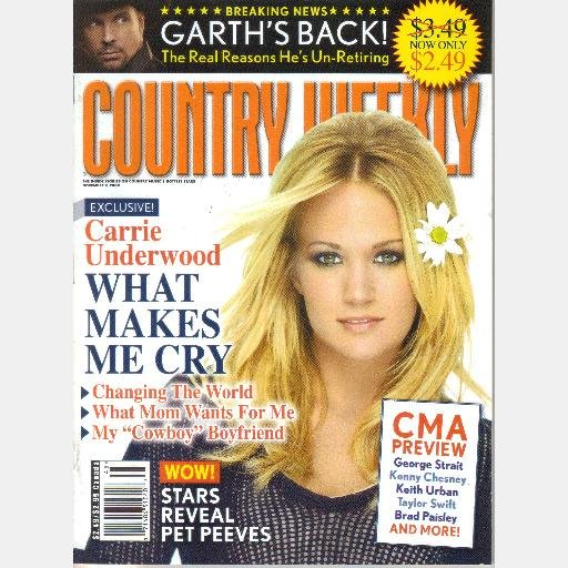COUNTRY WEEKLY November 9 2009 CARRIE UNDERWOOD Richie McDonald Steve AZAR LeAnn Rimes