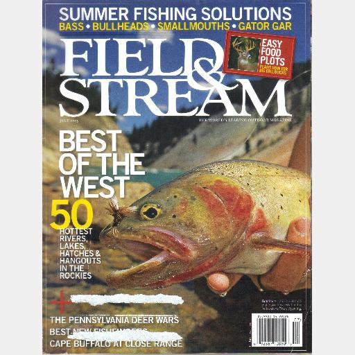 FIELD & STREAM July 2005 Cape Buffalo North Shore Lake Superior Steelhead Alligator Gar