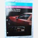JENSEN SJS9000 SJS8000 SJS7000 AM FM CASSETTE RECEIVER AUTO CAR RADIO Ad Brochure