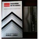 SHARP EL-152 CALCULATOR Owner's Instruction manual Programming guide 1983