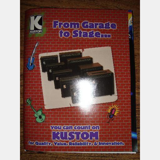 KUSTOM Guitar Bass Amp Catalog KGA10 Tuck n Roll SPECS Parts schematics diagrams 1999