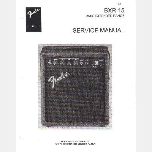 FENDER BXR 15 Bass Extended Range Service Manual schematic 1994