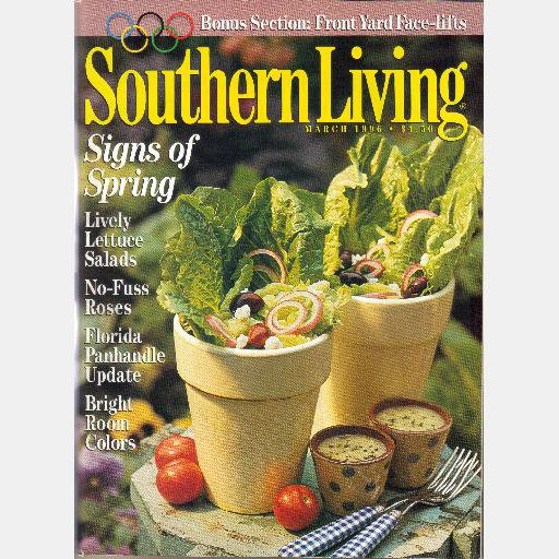 SOUTHERN LIVING March 1996 KATHY MATTEA Donna Colan Lauren Robert Brill Joey Reiman Cynthia Good
