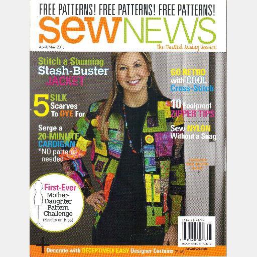 SEW NEWS April May June July 2010 Stash Buster Jacket Dye Silk Scarves Sandra Geiger Sara Boughner