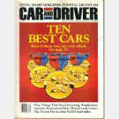 CAR AND DRIVER January 1992 Ten Best Issue 380 HP Mercedes Pontiac Gran Am Renntech 600E Previa
