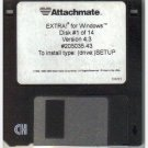 ATTACHMATE EXTRA for Windows Version 4.3 20535.43 14 floppy discs 1996 software