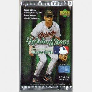 HOLIDAY INN 2007 Upper Deck Baseball Card Pack New Sealed Cal Ripken Jr 4 cards