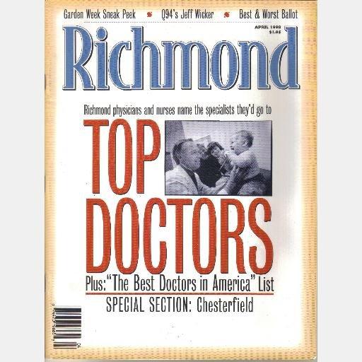 RICHMOND Magazine April 1998 Jeff Wicker TOP DOCTORS Judy Chin John Andrako Joe Martha Slay