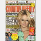 COUNTRY WEEKLY October 5 2009 MIRANDA LAMBERT interview JOSH TURNER son Vince Gill