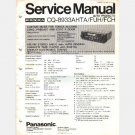 HONDA Panasonic CQ 8933AHTA FUH FCH Service Manual 1980 Accord Civic Prelude AM FM Stereo Cassette