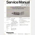 Panasonic CR 1719FUH Service Manual 1977 HONDA Accord Civic AM FM MPX Radio