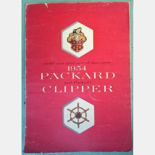 Packard and Packard Clipper for 1954 Sales Brochure Booklet DeLuxe Touring Sedan Panama