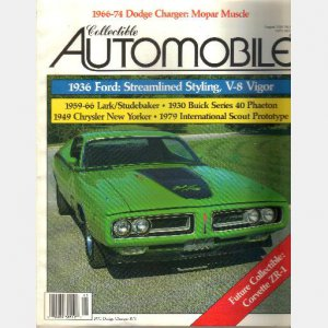 COLLECTIBLE AUTOMOBILE August 1989 1971 Dodge Charger RT 1949 Chrysler New Yorker 1930 Buick Phaeton
