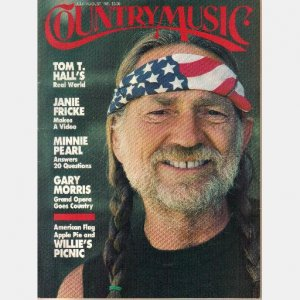 COUNTRY MUSIC July August 1985 No 114 Tom T Hall Janie Fricke Minnie Pearl Gary Morris Willie Nelson