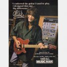 ERNIE BALL MUSIC MAN EDWARD VAN HALEN GUITAR Print Ad advertisement 1991