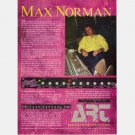 MAX NORMAN Print ad advertisement ART POWER PLANT amp The Sound of Perfection 1991