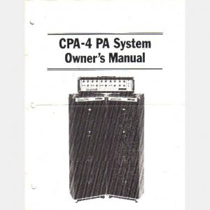 RANDALL INSTRUMENTS INC Owners Manual Schematic CPA 4 PA System Amp Amplifier Public Address