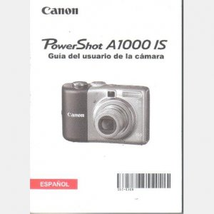 CANON PowerShot A1000IS Digital Camera OEM Manual SPANISH ESPANOL Guia del Usario