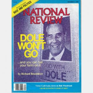 NATIONAL REVIEW December 4 1987 Dole Won't Go Brookhiser Race Politics Crozier