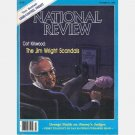 NATIONAL REVIEW October 23 1987 Jim Wright Scandals Peacedrunk William F Buckley Jr