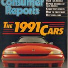 Consumer's Reports Magazine-April 1991-1991 cars-Mercury Capri-Crash Test results