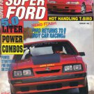 Super Ford Magazine-February 1992-Brian Wolfe-1986 Mustang GT-Scott Fritz-1964 Comet Caliente
